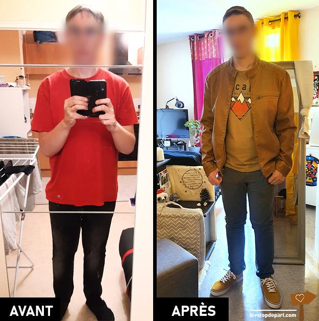 Relooking Vestimentaire - Avant / Après - Dominique Coaching - lovetopdepart